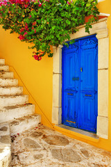 colorful Greece series -Symi island streets