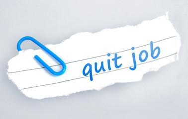 Quit job word