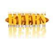 Постер, плакат: BEER ALPHABET letters BEERS