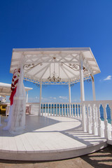 wedding pavilion by the sea