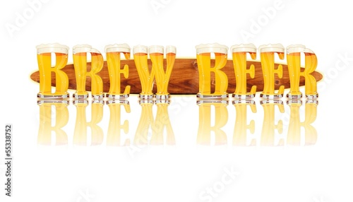 BEER ALPHABET letters BREW BEER