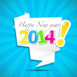 origami speech bubble : happy new year 2014