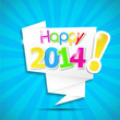 origami speech bubble : happy 2014
