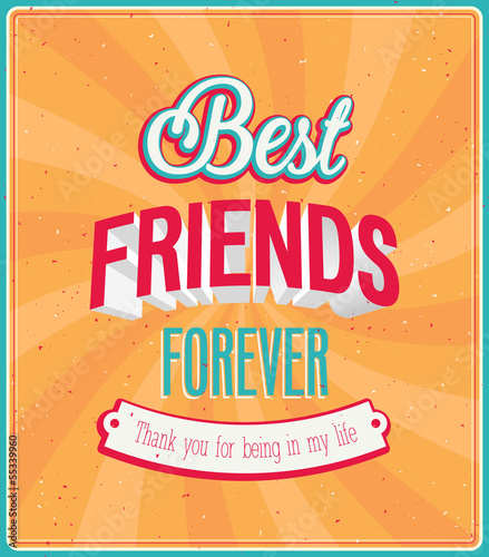Best friends forever typographic design.