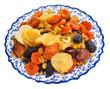 dried sweet fruits on arabic plate