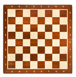 top view of wooden chessboard