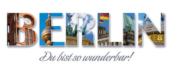 Berlin - Collage-Schriftzug