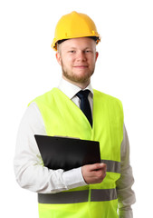 Attractive construction worker
