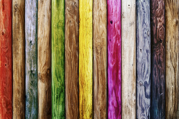 Old wooden boards of multicolor