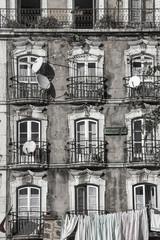 house with azulejos (tiles), Lisbon, Portugal