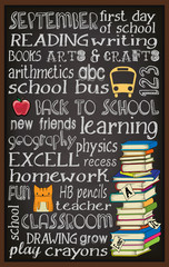 Back to School Chalkboard Typography Poster