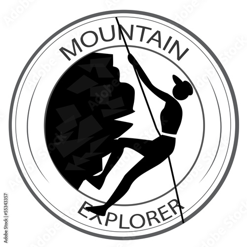 icon of hiking