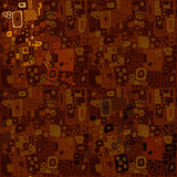 Brown seamless ethnic pattern
