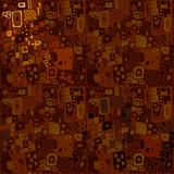 Brown seamless ethnic pattern