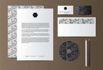 Geometric black and white corporate identity