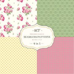 A set of seamless classic pattern