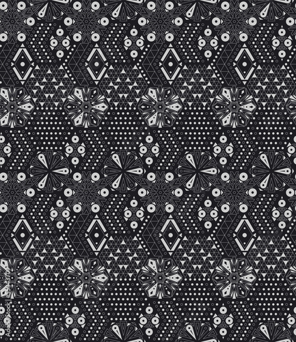 Abstract geometric pattern of hexagons