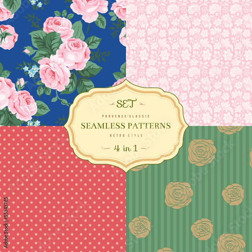 A set of seamless classic pattern