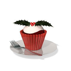 Plum Pudding Cupcake
