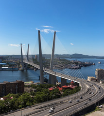 Vladivostok, bridge - daylight view.