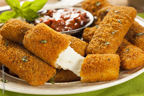 Homemade Fried Mozzarella Sticks - 55344773