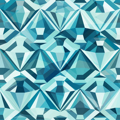 cold color diamond seamless pattern