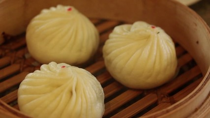 steamed chinese dimsum bun : montage HD