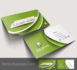 Vector business card set, isolated with soft shadow design