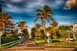 WEST PALM BEACH, FLORIDA - JAN 2: City colors and architecture,