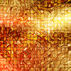 Gold mosaic background. EPS 10