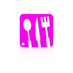Kitchen icon set pink