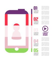 Modern minimal mobile phone infographic