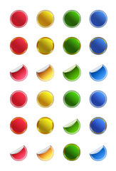 Set of glossy buttons stickers