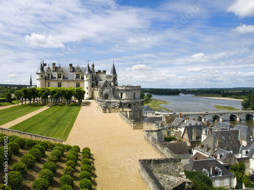 The castle over the city of Amboise
