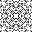 Black and white lattice, geometric seamless pattern