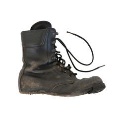 Army boot isolated on white