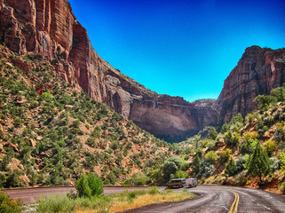 Wonderful summer colors of Zion National Park - USA