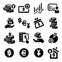 finance vector  icons set