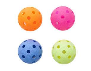 Colored floorballs