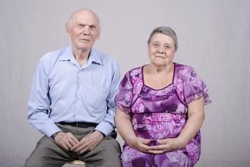 Портрет пожилой пары восьмидесяти лет