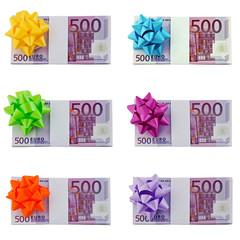 Collage 500 Euro Noten