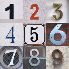house number set
