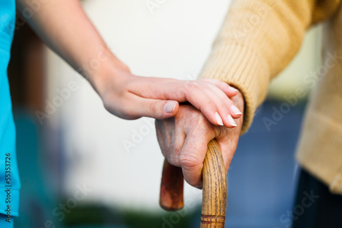 Helping the Elderly - 55353726
