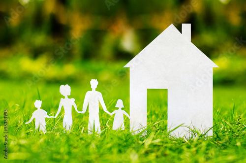 Leinwandbild Motiv concept image of make your a house
