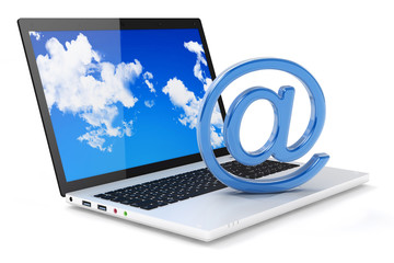 Laptop and e-mail symbol