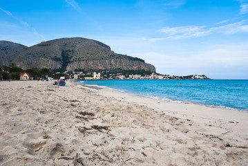 Beach of Mondello in Palermo