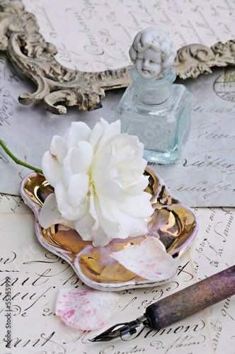Antiques and rose