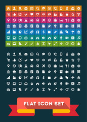 Universal Flat Icon Set. Vector