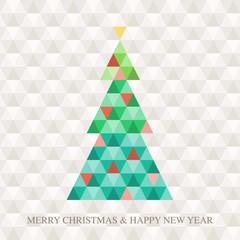 Christmas tree Hexagon pattern