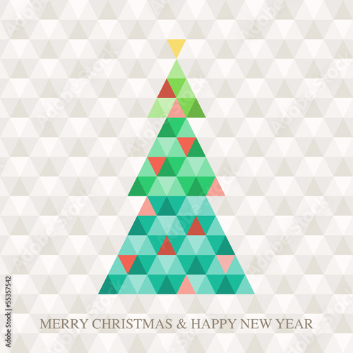 Christmas tree Hexagon pattern